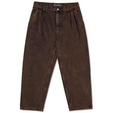 Polar Skate Co Grund Chinos Denim - Brown Black