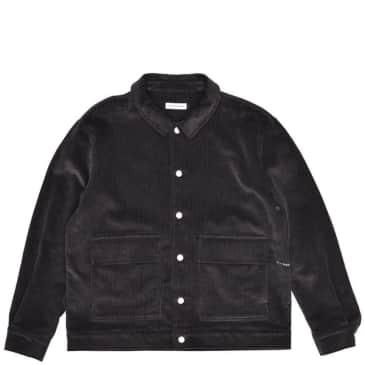 Pop Trading Company Full Button Jacket - Charcoal