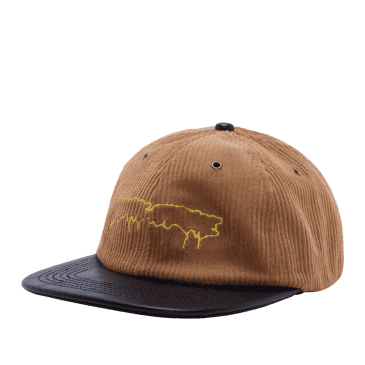 Fucking Awesome Drip Corduroy Unstructured Strapback Cap - Camel