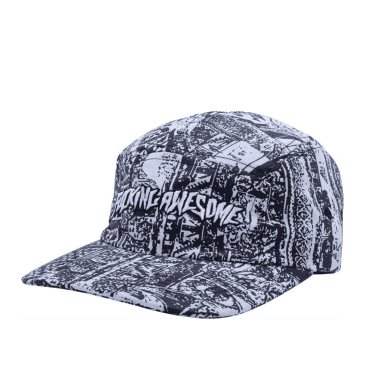 Fucking Awesome Acupuncture Volley Strapback Cap - Black / White