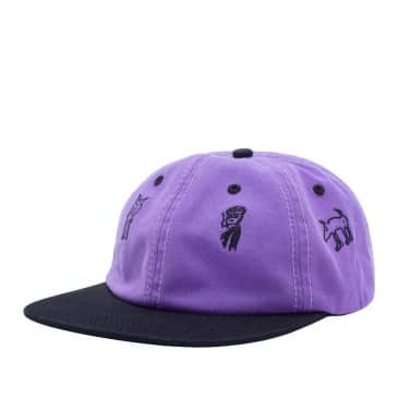 Fucking Awesome Yesterday Today Strapback Cap - Lavender / Black