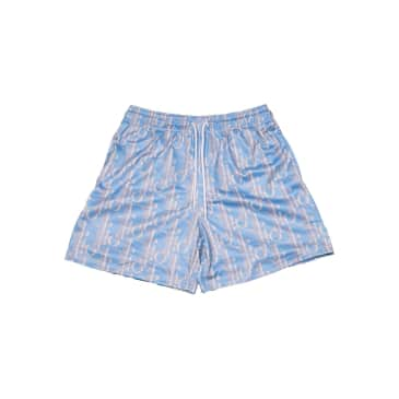 """MR.REMADE-""""CD ALL OVER MESH SHORTS""""(BLUE/GREY)"""
