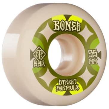 Bones Skateboard Wheels Retros V5 Sidecut Street Tech Formula STF 99a 53mm