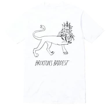 """Brixton's Badddest """"Lion"""" tee white"""