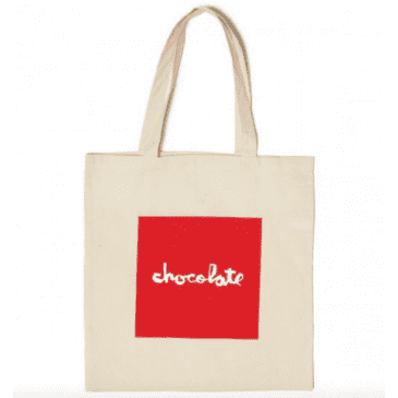 Chocolate Skateboards - Chocolate Red Square Canvas Tote