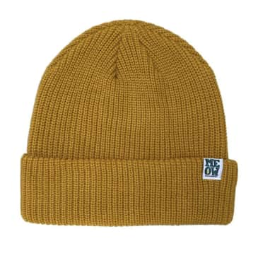 Meow Stacked Beanie (Mustard)