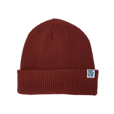 Meow Stacked Beanie (Maroon)
