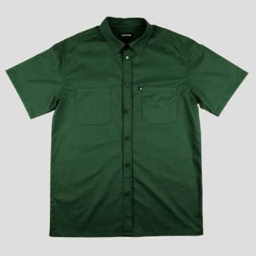 """PASS~PORT """"WORKERS"""" SHIRT S/S FOREST GREEN"""