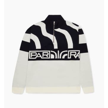 by Parra - shoulder waves half zip knitted pullover