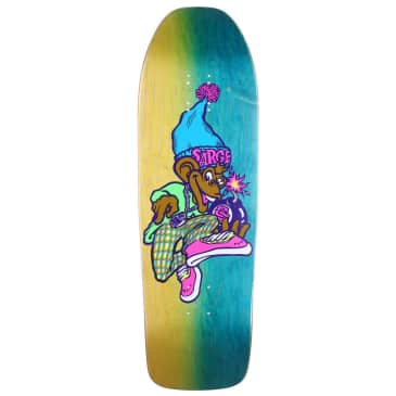 """New Deal Sargent Monkey Bomber Neon HT Deck Multi 9.625"""""""
