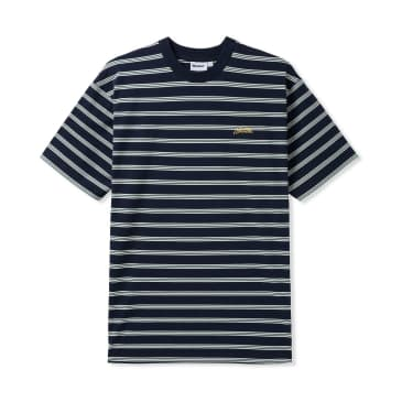 Butter Goods Chase Stripe Tee Black/White/Forest