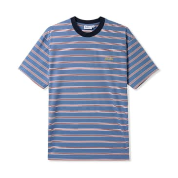 Butter Goods Chase Stripe Tee Blue/White Wine