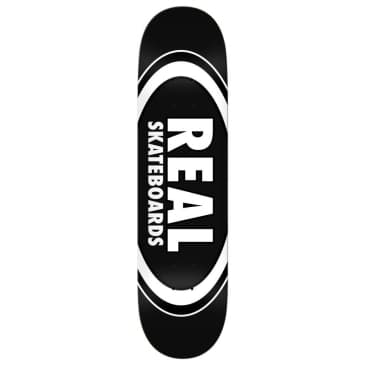 """Real Deck - Team Classic Oval Black - 8.25"""""""