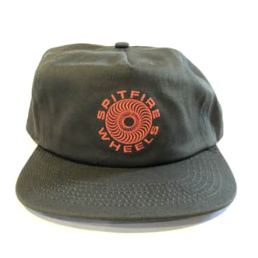 Spitfire Classic 87 Swirl Snapback Hat - Olive/Red