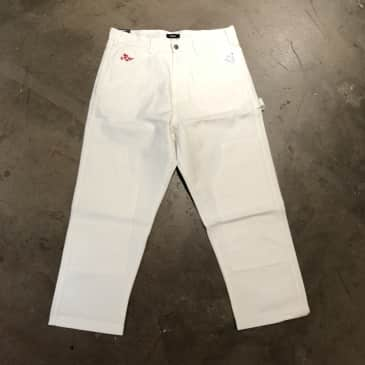 RVCA Evan Mock Chainmail Pant - White