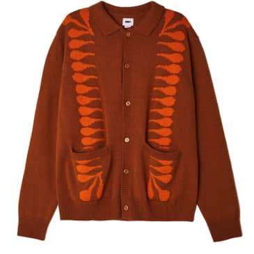 OBEY Clothing - Souvenirs Cardigan - Wood/Multi