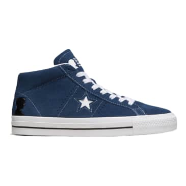 CONVERSE CONS ONE STAR PRO MID NAVY/WHITE/BLACK