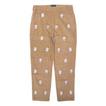Ripndip - Hello Nermy Corduroy Embroidered Pants (Tan)
