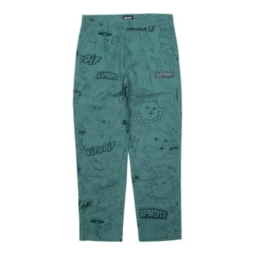 Ripndip - Scribble Cotton Twill Pants (Forest Green)