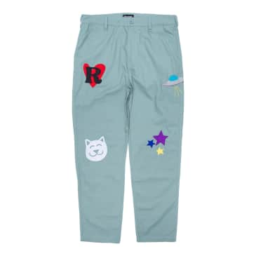 Ripndip - Play Date Cotton Twill Embroidered Pants (Pistachio)
