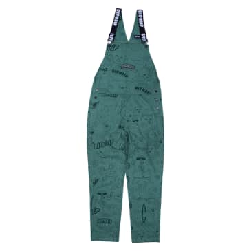 Ripndip - Scribble Cotton Twill Overalls (Forest Green)