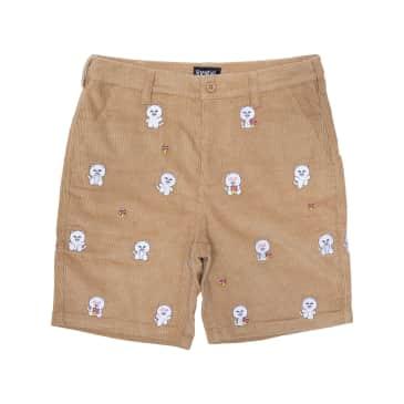 Ripndip - Hello Nermy Corduroy Embroidered Shorts (Tan)