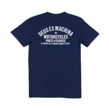 Deus Ex Machina Biarritz Address T-Shirt - Navy