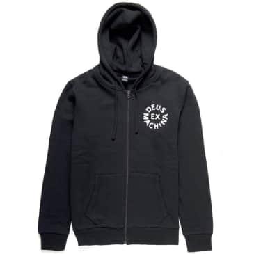 Deus Ex Machina Circle Logo Hood - Black