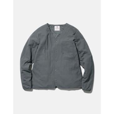 Snow Peak Flexible Insulated Cardigan (Polartec) - Grey/Khaki