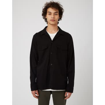 NN07 Bernard Overshirt 1154 - Black