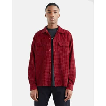 Levis Vintage Clothing Deluxe Check Shirt (Dogtooth) - Red