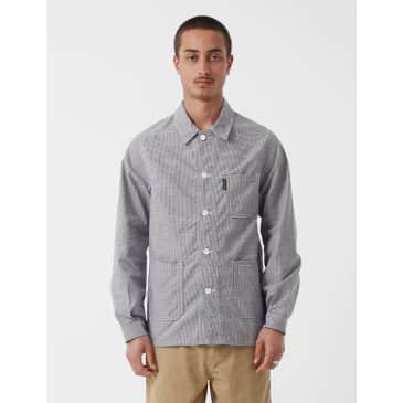 Le Laboureur Houndstooth Cotton Work Jacket - Black/White