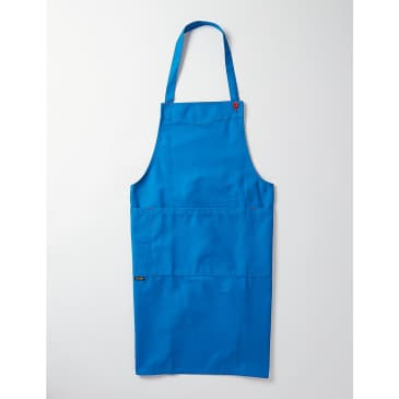 Le Laboureur Cotton Apron - Bright Blue