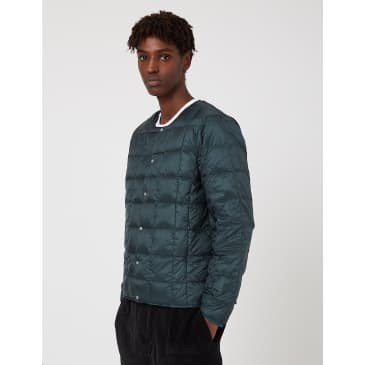 Taion Crew Neck Down Jacket - Forest Green