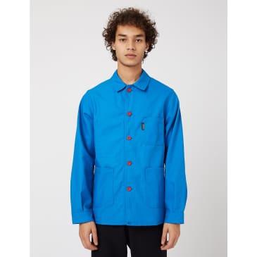 Le Laboureur Work Jacket (Cotton Drill) - Bugatti Blue/Red Buttons