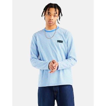 Levis Skate Striped Long Sleeve T-Shirt - Ultramarine Blue