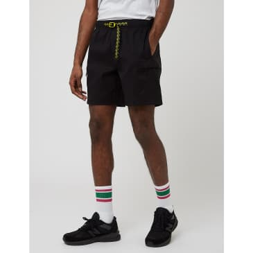 North Face Class V Belted Shorts - TNF Black/Citronelle Green