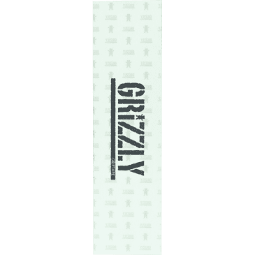Grizzly Stamp Clear Griptape 9x33