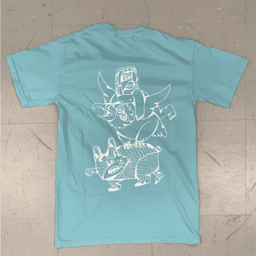 Inovation3 Totem Stand Tall Mint Billy T. Lyons Collab T-Shirt