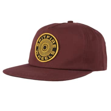 SPITFIRE Classic 87' Swirl Patch Snapback Hat Brown/Yellow