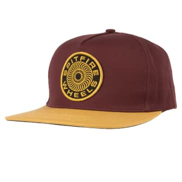 SPITFIRE Classic 87' Swirl Patch Snapback Hat Brown/Yellow/Black
