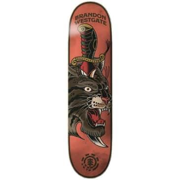 Element Skateboards Brandon Westgate Natural Defence Skateboard Deck - 8.25