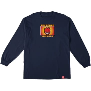 Spitfire Label Youth L/S T-Shirt (Navy)
