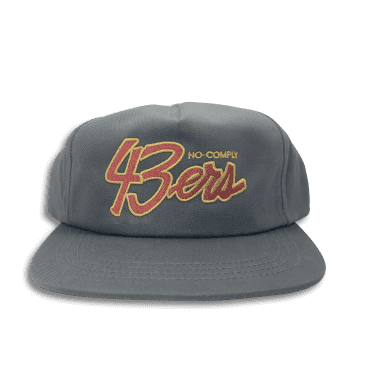 No-Comply 43ers Snap Back Hat - Grey
