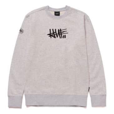 HUF X HAZE Handstyle 1 Sweatshirt Athletic Heather