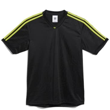 adidas Skateboarding Jacquard Club Jersey - Black / Acid Yellow