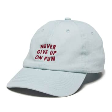The Quiet Life Never Give Up Dad Hat - Light Denim