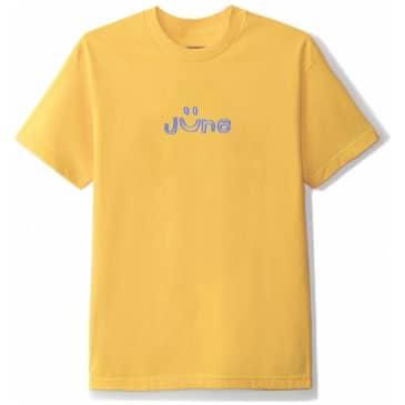 June Store Smile Puff Print T-Shirt - Yellow / Blue