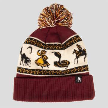 Pass~Port Skateboards - Daily Pompom Beanie - Maroon