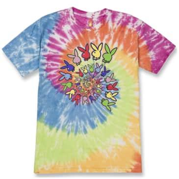 Color Bars x Playboy Spiral Tie Dye T-Shirt - Rainbow